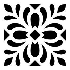 Stencils of tile designs for floor tiles, wall tiles and other DIY home decor projects. Stencil Fabric, Stencil Patterns, Stencil Designs, Tile Patterns, Fabric Painting, Stenciling, Diy Home Decor Projects, Art Projects, Tile Design