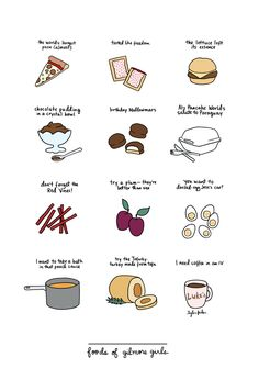 (Some) Foods of Gilmore Girls by Tyler FederBuy a print here!