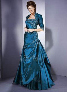Mother of the Bride Dresses - $157.99 - A-Line/Princess Strapless Floor-Length Taffeta Mother of the Bride Dress With Lace Beading Sequins Cascading Ruffles (00805007138)