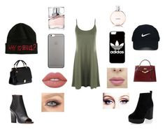 """""""dangerous woman"""" by jaydenloveyourstyle04 ❤ liked on Polyvore featuring WearAll, New Look, Hermès, Miu Miu, adidas, Nike Golf, Native Union, Lime Crime, HUGO and Chanel"""