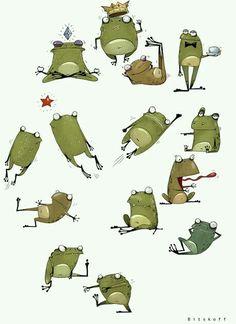Смешные лягушки