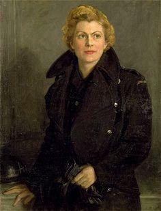 Aletha Harcourt, Ambulance Driver - 1942 by George Harcourt