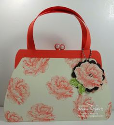You know I lovea prettypaper purse! Here are some new designs of the old patterns.            So pretty in Calypso Coral with Stipples ...