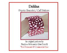 Even Count Peyote Graph | Peyote Bracelet Pattern ... DAHLIAS ... Cuff ...
