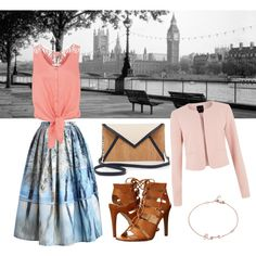 Walk in London by missbudaiagnes on Polyvore featuring polyvore fashion style Monsoon Chicwish Dolce Vita Pelcor Blue Nile