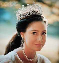 HRH Princess Margaret (1930-2002) ~ Sister to Queen Elizabeth II wearing the Poltimore Tiara.