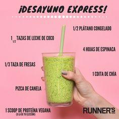 ¡Desayuno #saludable !   #runner #healthylife #smoothie
