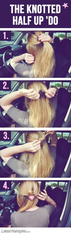 5 Super Quick & Easy Hairstyles You Can Do in Your (Parked) Car | Latest-Hairstyles.com