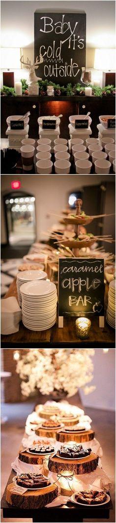 warm wedding bar ideas for winter