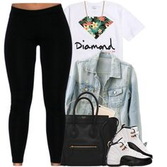 chill. by mindlesscupkake421 on Polyvore featuring polyvore, fashion, style, Givenchy, H&M and Diamond Supply Co.