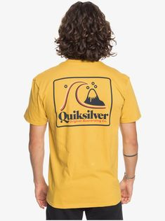 quiksilver, Beach Tones Tee, HONEY (ylv0) Soft Fabrics, Mens Fashion, Tees, Beach, Cotton, T Shirt, Honey, Moda Masculina, Supreme T Shirt