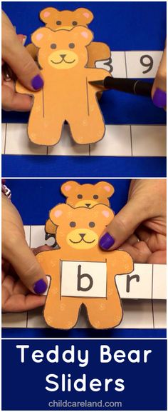 Teddy Bear Sliders ... used for recognition and review of letters ... numbers ... sight words.
