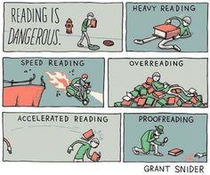 lezen is gevaarlijk
