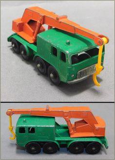 1960's Vintage Matchbox Lesney No. 30, 8 Wheel Crane Construction Vehicle…