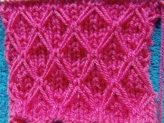 WZORY NA DRUTACH-KNITTING STITCH-ROMBY - YouTube