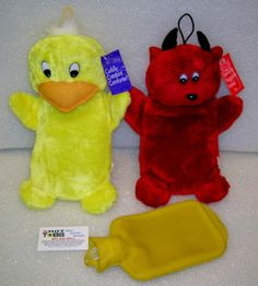 Lil duck or Lil devil water bottles, removable rubber bottle, 12 inch high x 6 inch wide.