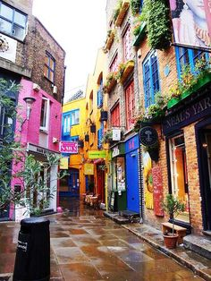 colourful Seven Dials, London