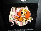 DLRP LADY AND THE TRAMP - LADY IN A GIFT BOX DISNEY PARIS PIN