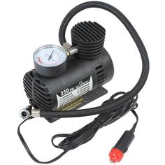 Portable 12V 90W 250PSI Electric Car Tire Tyre Inflator Pump Auto Car Pump Air Compressor with 3 Pneumatic Nozzle | Top 10 Best Portable Air Compressor for Car Reviews
