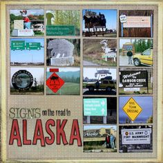 Alaska signs layout