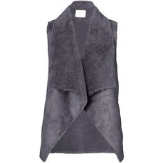Velvet by Graham and Spencer Analucia Drape Vest ($170) ❤ liked on Polyvore featuring outerwear, vests, grey, fitted vest, grey vest, gray vest, velvet waistcoat and draped vest