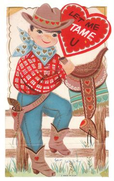 Valentine Card Cowboy