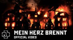 Rammstein - Mein Herz Brennt (Official Video). The song's lyrics involve a narrator describing the terrors of nightmares. Warning, some viewers may find this video too intense, disturbing and shocking to watch. Skip it if you are easily upset. I mean it.
