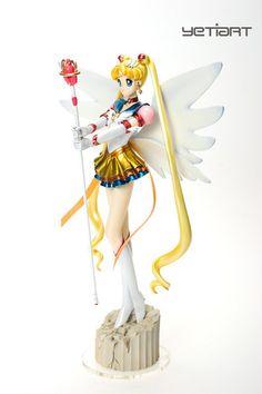 Eternal Sailor Moon Custom Painted Resin Garage Kit Anime Model Yetiart Figure | eBay