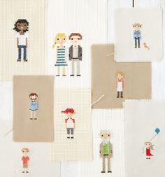 How cute are the cross stitch people