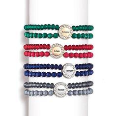 Inspirational Double-Row Bead Bracelet