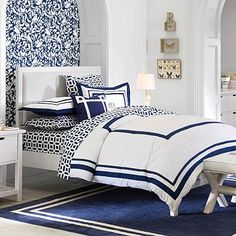 Sutton Upholstered Bed #pbteen