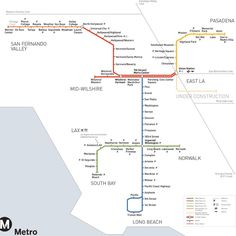 la metro map. The Metro will someday get to Wilshire and Westwood. Someday...