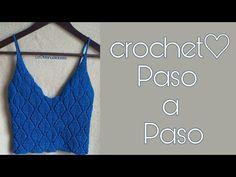 Blusa en punto hojas tejida a crochet - Crochet knit shirt with leaf crochet shape Crochet Halter Tops, Crochet Skirts, Crochet Crop Top, Crochet Blouse, Knit Or Crochet, Crochet Clothes, Crochet Bikini, Crochet Beanie Pattern, Crochet Patterns