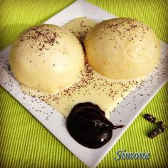 Dumplings, Clean Eating, Dessert Recipes, Food And Drink, Ice Cream, Sweets, Bread, Homemade, Snacks