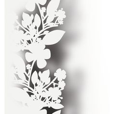 Elitis XXL Ombres Wallpaper - TP 124 05 (340 CAD) ❤ liked on Polyvore featuring home, home decor, wallpaper, white, flower stem, white stripes wallpaper, floral home decor, graphic wallpaper and white floral wallpaper