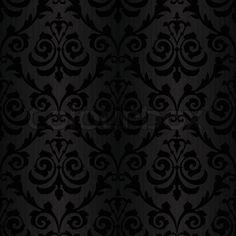 Vektor af 'sømløs sort silke tapet mønster'
