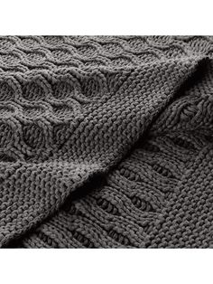 Buy Croft Collection Cotton Chain Knit Throw, Storm Grey from our Throws, Blankets & Bedspreads range at John Lewis & Partners. Online Checks, Knitted Throws, Cotton Style, Soft Furnishings, John Lewis, Chain, Knitting, Collection, Tricot