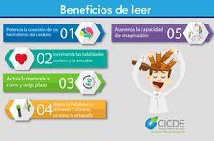 Benefios de leer  #emprender, #infografía, #emprendedor