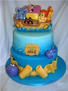 Noahs ark cake...cute but too much cake!