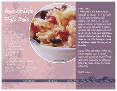 Simple Digital Cookbook Page