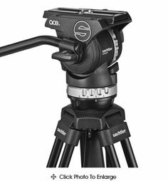 Sachtler ACE M MS Tripod System 1001 3 vertical and 3 horizontal grades of drag and 5 levels of counterbalance. claims an 8.8lbs weight limit