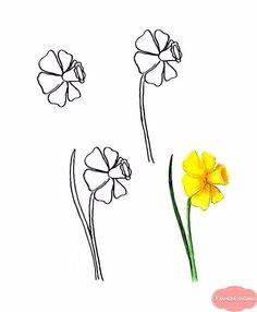 Malvorlage Tulpe Blumen Pinterest Blumen Ausmalen Blumen
