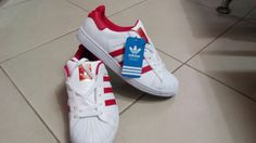 Adidas full color red white