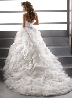 Bridal Gowns: Maggie Sottero Princess/Ball Gown Wedding Dress with Sweetheart…