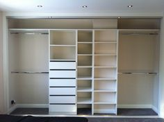 Built-in bedroom wardrobe