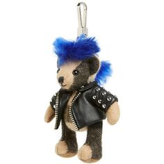 Burberry 'Thomas Punk Bear' Bag Charm ($250) ❤ liked on Polyvore featuring jewelry, pendants, camel, teddy bear jewelry, burberry, charm pendant, acrylic charms and bear charm