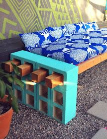 Initiales GG ... : {DIY} un canapé en parpaing pour votre jardin!