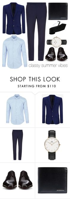 """#classysummervibes"" by daut-selma ❤ liked on Polyvore featuring Ministry of Supply, Alexander McQueen, Mathieu Jerome, Daniel Wellington, Christian Louboutin, Burberry, Haggar, men's fashion and menswear"