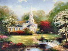 Hometown Chapel by Thomas Kinkade