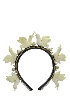 Masterpeace Swan Headband by Masterpeace for Preorder on Moda Operandi